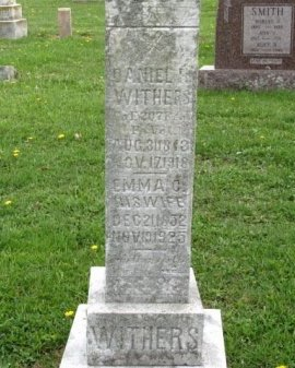 WITHERS (CW), DANIEL H. - Adams County, Pennsylvania | DANIEL H. WITHERS (CW) - Pennsylvania Gravestone Photos