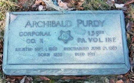 PURDY (CW_), ARCHIBALD - Allegheny County, Pennsylvania   ARCHIBALD PURDY (CW_) - Pennsylvania Gravestone Photos