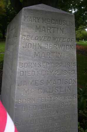 MCCAUSLIN MARTIN, MARY - Bedford County, Pennsylvania   MARY MCCAUSLIN MARTIN - Pennsylvania Gravestone Photos