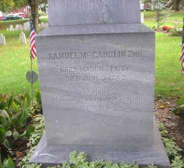 MCCAUSLIN, SAMUEL 2ND - Bedford County, Pennsylvania | SAMUEL 2ND MCCAUSLIN - Pennsylvania Gravestone Photos