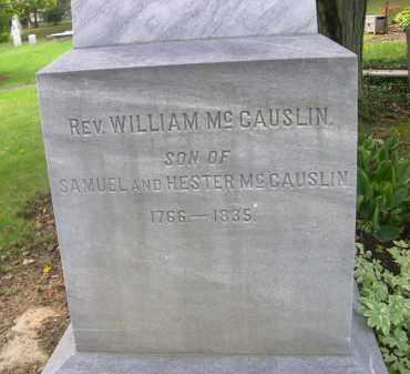MCCAUSLIN, WILLIAM (REV.) - Bedford County, Pennsylvania   WILLIAM (REV.) MCCAUSLIN - Pennsylvania Gravestone Photos