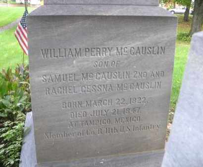 MCCAUSLIN, WILLIAM PERRY - Bedford County, Pennsylvania | WILLIAM PERRY MCCAUSLIN - Pennsylvania Gravestone Photos