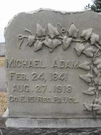 ADAM (CW), MICHAEL - Berks County, Pennsylvania   MICHAEL ADAM (CW) - Pennsylvania Gravestone Photos