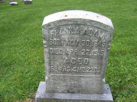 ADAM, FRANK A. - Berks County, Pennsylvania | FRANK A. ADAM - Pennsylvania Gravestone Photos