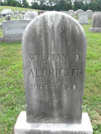 ALBRIGHT, WILLIAM D. - Berks County, Pennsylvania | WILLIAM D. ALBRIGHT - Pennsylvania Gravestone Photos