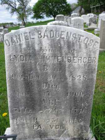 BADENSTOSE (CW), DANIEL - Berks County, Pennsylvania | DANIEL BADENSTOSE (CW) - Pennsylvania Gravestone Photos