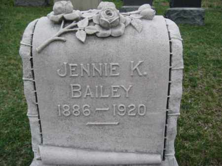 BAILEY, JENNIE K. - Berks County, Pennsylvania | JENNIE K. BAILEY - Pennsylvania Gravestone Photos