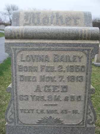 BAILEY, LOVINA - Berks County, Pennsylvania | LOVINA BAILEY - Pennsylvania Gravestone Photos