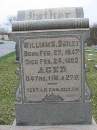 BAILEY, WILLIAM S. - Berks County, Pennsylvania   WILLIAM S. BAILEY - Pennsylvania Gravestone Photos