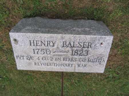 BALSER (RW), HENRY - Berks County, Pennsylvania | HENRY BALSER (RW) - Pennsylvania Gravestone Photos