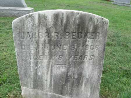 BECKER, JACOB - Berks County, Pennsylvania | JACOB BECKER - Pennsylvania Gravestone Photos