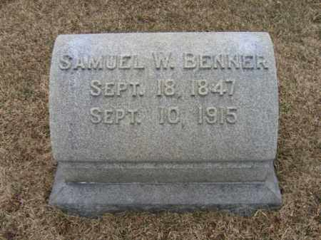 BENNER, SAMUEL W. - Berks County, Pennsylvania | SAMUEL W. BENNER - Pennsylvania Gravestone Photos