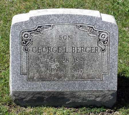 BERGER, GEORGE L. - Berks County, Pennsylvania | GEORGE L. BERGER - Pennsylvania Gravestone Photos