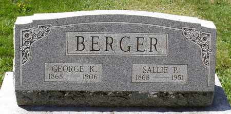 BERGER, SALLIE P. - Berks County, Pennsylvania | SALLIE P. BERGER - Pennsylvania Gravestone Photos