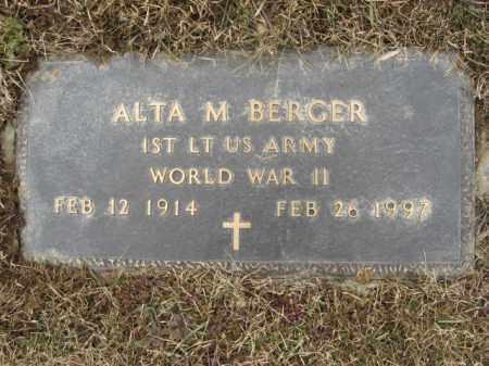 BERGER (WWII), ALTA M. - Berks County, Pennsylvania | ALTA M. BERGER (WWII) - Pennsylvania Gravestone Photos