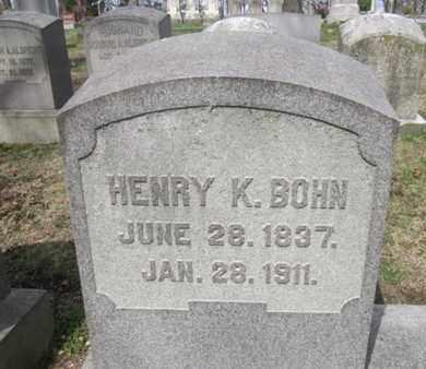 BOHN (CW), HENRY K. - Berks County, Pennsylvania | HENRY K. BOHN (CW) - Pennsylvania Gravestone Photos