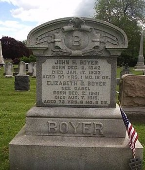 BOYER (CW), JOHN . - Berks County, Pennsylvania | JOHN . BOYER (CW) - Pennsylvania Gravestone Photos