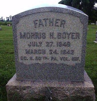 BOYER (CW), MORRIS H. - Berks County, Pennsylvania | MORRIS H. BOYER (CW) - Pennsylvania Gravestone Photos