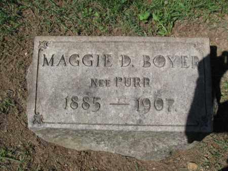 BOYER, MAGGIE D. - Berks County, Pennsylvania   MAGGIE D. BOYER - Pennsylvania Gravestone Photos