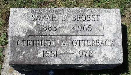BROBST, SARAH D. - Berks County, Pennsylvania | SARAH D. BROBST - Pennsylvania Gravestone Photos