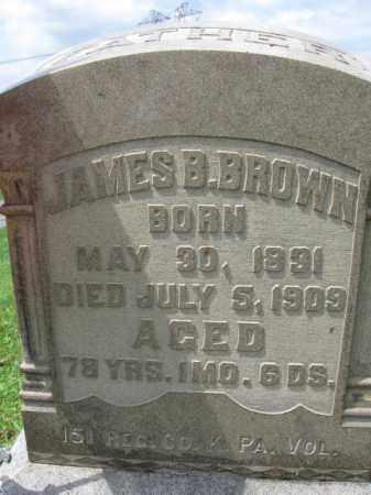 BROWN (CW), SGT.JAMES B. - Berks County, Pennsylvania   SGT.JAMES B. BROWN (CW) - Pennsylvania Gravestone Photos
