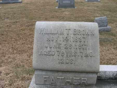 BROWN, WILLIAM T. - Berks County, Pennsylvania | WILLIAM T. BROWN - Pennsylvania Gravestone Photos