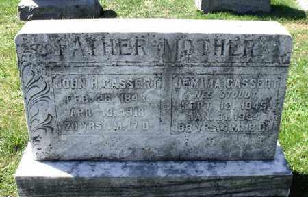 CASSERT, JEMIMA - Berks County, Pennsylvania | JEMIMA CASSERT - Pennsylvania Gravestone Photos