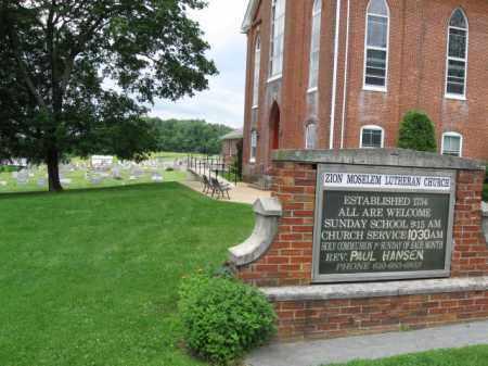 CEMETERY CHURCH SIGN, ZION MOSELEM - Berks County, Pennsylvania   ZION MOSELEM CEMETERY CHURCH SIGN - Pennsylvania Gravestone Photos