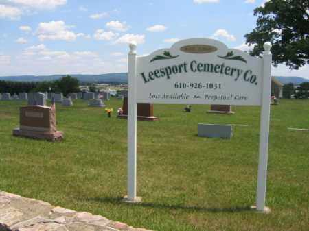 CEMETERY SIGN, LEESPORT - Berks County, Pennsylvania | LEESPORT CEMETERY SIGN - Pennsylvania Gravestone Photos
