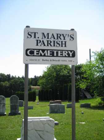 CEMETERY SIGN, ST. MARY'S PARISH - Berks County, Pennsylvania | ST. MARY'S PARISH CEMETERY SIGN - Pennsylvania Gravestone Photos