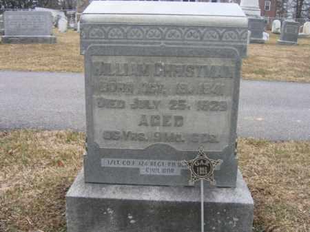 CHRISTMAN (CW), 1ST LT.WILLIAM - Berks County, Pennsylvania   1ST LT.WILLIAM CHRISTMAN (CW) - Pennsylvania Gravestone Photos