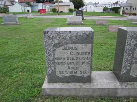 CLOUSER, JAIRUS - Berks County, Pennsylvania | JAIRUS CLOUSER - Pennsylvania Gravestone Photos