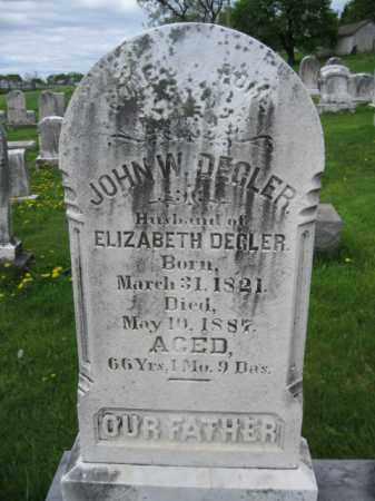 DEGLER, JOHN W. - Berks County, Pennsylvania | JOHN W. DEGLER - Pennsylvania Gravestone Photos