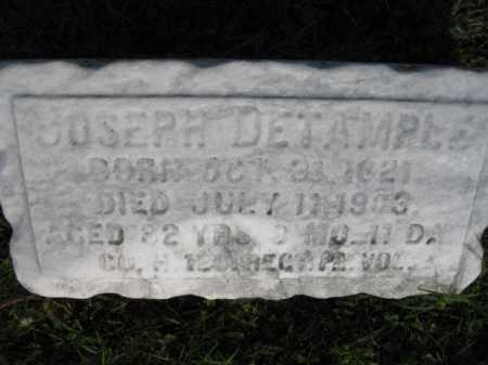 DETAMPLE (DETEMPLE) (CW), JOSEPH - Berks County, Pennsylvania | JOSEPH DETAMPLE (DETEMPLE) (CW) - Pennsylvania Gravestone Photos