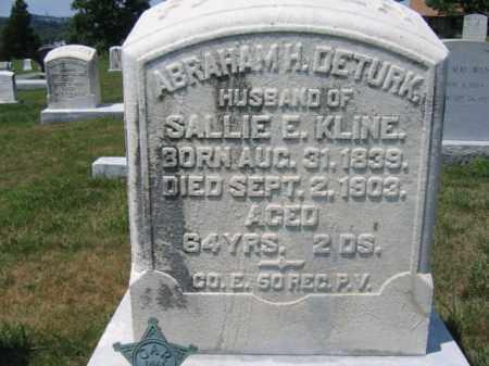 DETURK  (CW), SGT.ABRAHAM H. - Berks County, Pennsylvania | SGT.ABRAHAM H. DETURK  (CW) - Pennsylvania Gravestone Photos