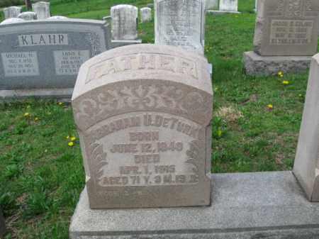 DETURK, ABRAHAM U. - Berks County, Pennsylvania   ABRAHAM U. DETURK - Pennsylvania Gravestone Photos