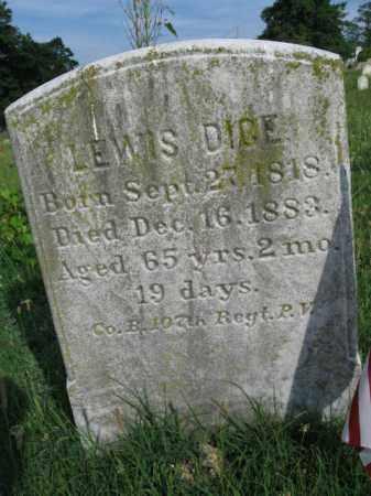 DICE (CW), LEWIS - Berks County, Pennsylvania   LEWIS DICE (CW) - Pennsylvania Gravestone Photos