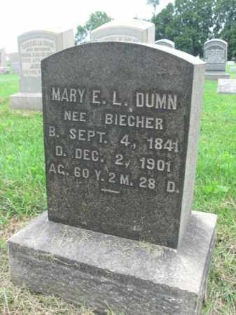 BIECHER DUMN, MARY E.L. - Berks County, Pennsylvania | MARY E.L. BIECHER DUMN - Pennsylvania Gravestone Photos