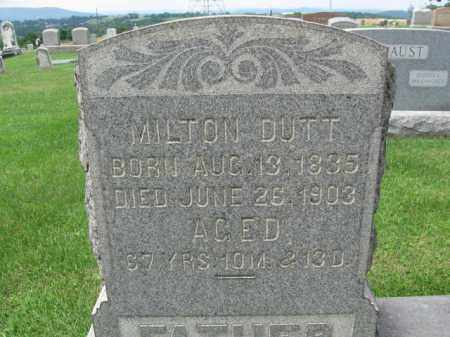 DUTT, MILTON - Berks County, Pennsylvania | MILTON DUTT - Pennsylvania Gravestone Photos