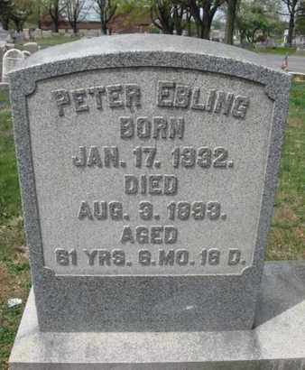 EBLING, PETER - Berks County, Pennsylvania | PETER EBLING - Pennsylvania Gravestone Photos