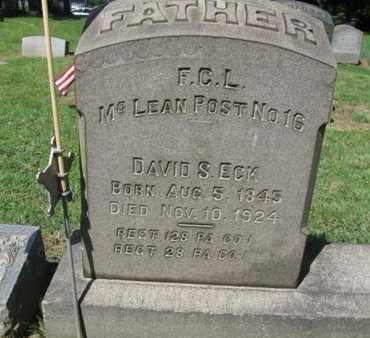 ECK (CW), DAVID S. - Berks County, Pennsylvania   DAVID S. ECK (CW) - Pennsylvania Gravestone Photos