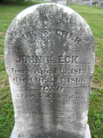ECK, JOHN K. - Berks County, Pennsylvania | JOHN K. ECK - Pennsylvania Gravestone Photos