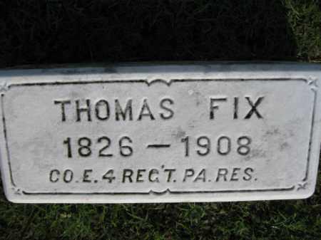 FIX (CW), THOMAS - Berks County, Pennsylvania | THOMAS FIX (CW) - Pennsylvania Gravestone Photos