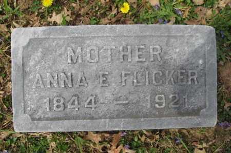 FLICKER, ANNA E. - Berks County, Pennsylvania   ANNA E. FLICKER - Pennsylvania Gravestone Photos
