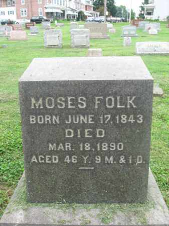FOLK, MOSES - Berks County, Pennsylvania | MOSES FOLK - Pennsylvania Gravestone Photos