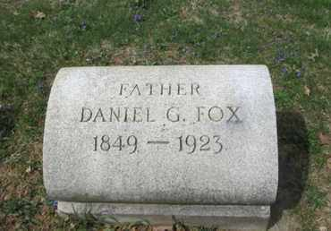 FOX, DANIEL G. - Berks County, Pennsylvania | DANIEL G. FOX - Pennsylvania Gravestone Photos