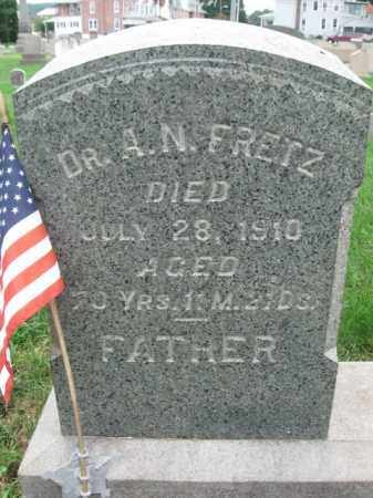 FRETZ (CW)  (FRITZ), AUGUST N. - Berks County, Pennsylvania | AUGUST N. FRETZ (CW)  (FRITZ) - Pennsylvania Gravestone Photos