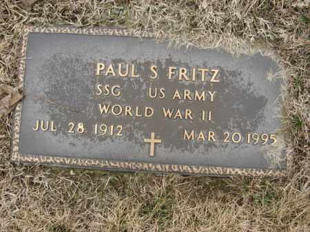FRITZ (WWII), PAUL S. - Berks County, Pennsylvania | PAUL S. FRITZ (WWII) - Pennsylvania Gravestone Photos