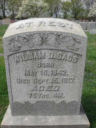 GASS, WILLIAM D. - Berks County, Pennsylvania | WILLIAM D. GASS - Pennsylvania Gravestone Photos