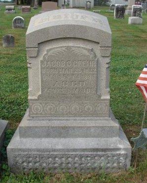 GEEHR (CW), JACOB C. - Berks County, Pennsylvania   JACOB C. GEEHR (CW) - Pennsylvania Gravestone Photos
